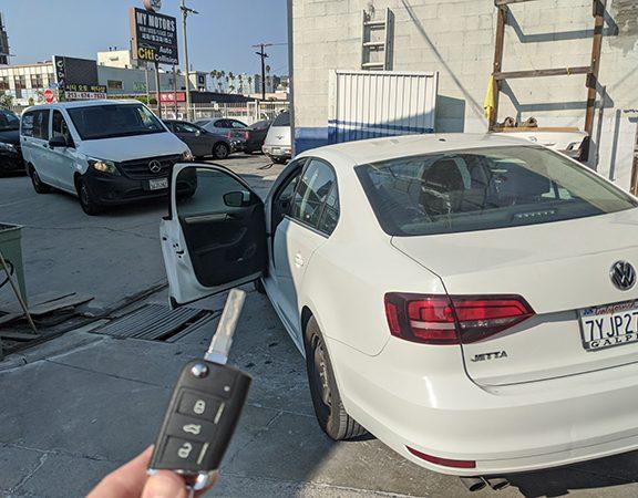 2017 VW Jetta remote key MQB system Hollywood CA Locksmith